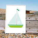 Numbered Sailing Boat Print