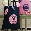 Personalised Button Craft Or Knitting Tote Bag