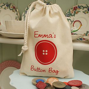 Personalised Button Bag With Vintage Buttons - sewing & knitting