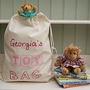 Personalised Childrens Toy Bag Many Colours