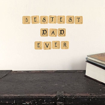 Letter Tile Fabric Wall Stickers