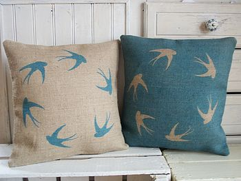 ' Soaring Swallows ' Cushion