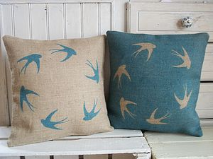 Soaring Swallows Cushion - living room