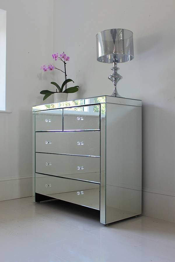 large mirrored chest of drawers by out there interiors ...