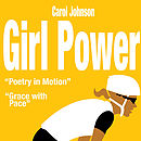 Personalised 'Girl Power' Cycling Print.yellow.Detail