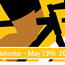 Personalised 'Girl Power' Cycling Print.Yellow,Detail2