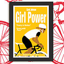 Personalised Cycling Print 'Girl Power'. Yellow