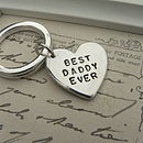Large Heart Key Ring Charm