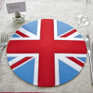 Set Of Four Union Jack Placemats - placemats & coasters