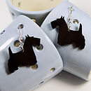 Acrylic Scottie Dog Earrings