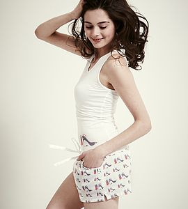Shoe Vest And Shorts Pyjama Set