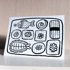 Colour In Sushi Card