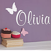 Personalised Butterfly Wall Sticker - express gifts
