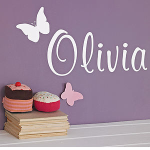 Personalised Butterfly Wall Sticker - bedroom
