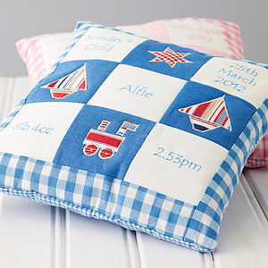 Personalised Memory Cushion - new baby gifts