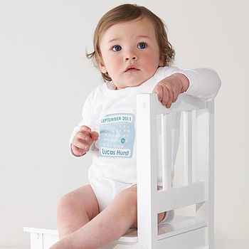 Personalised Birth Date Baby Grow