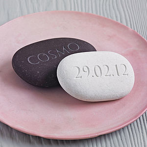 Personalised Engraved Stone - gifts for couples
