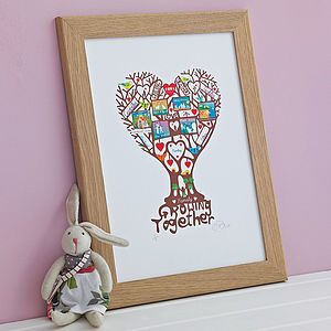 Personalised Family 'Growing Together' Print - baby's room