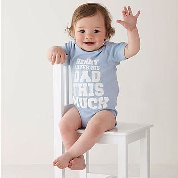 Personalised 'This Much' Baby Vest