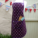 Purple Spotty Oilcloth Apron