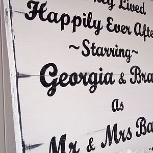 Personalised Large Vintage Wood Wedding Sign - interior accessories