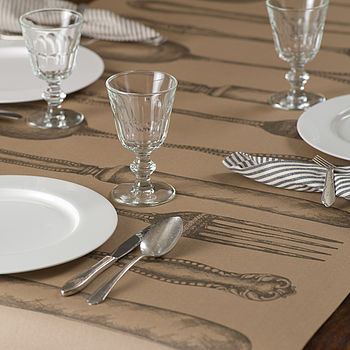 Vintage Style Cutlery Paper Table Runner