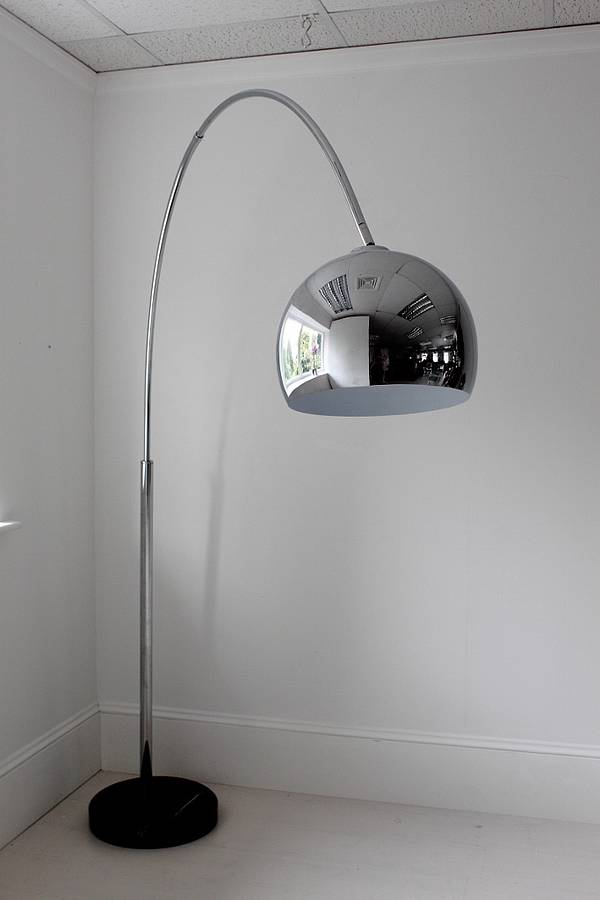 Large chrome arch floor lamp by out there interiors large chrome arch floor lamp aloadofball Image collections
