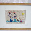 Personalised Family Embroidery Picture