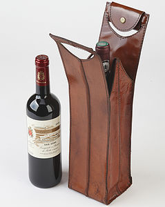 Leather Wine Bottle Carrier - wine connoisseur