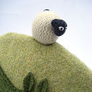 wool sheep tea cosy detail