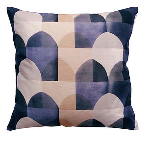 Viaduct Blue Cushion Cover - patterned cushions