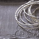 Softly Hammered Silver Bangle