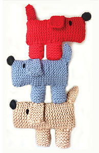 Scruff The Dog Learn To Knit Kit - sewing kits