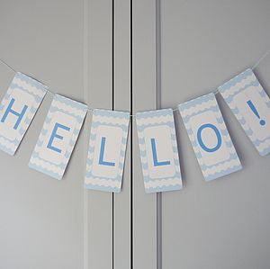 Personalised Chevron Bunting - room decorations