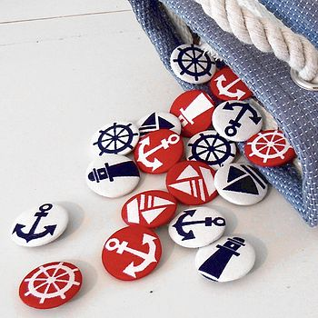 Nautical Fabric Badge Set