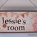 Wooden Girl's Name Sign