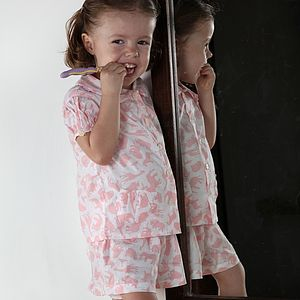 Safari Pink Cotton Short Set - nightwear