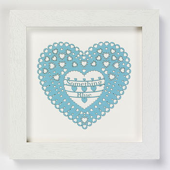 'Something Blue' Laser Cut Heart