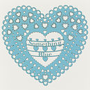 'Something Blue' Laser Cut Heart