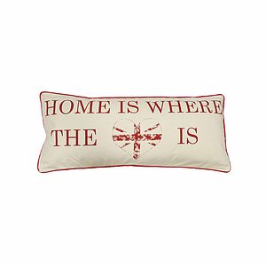 Home Is Where The Heart Is Long Cushion
