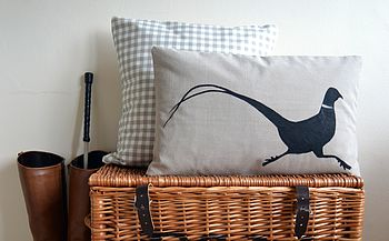 Pheasant Silhouette Cushion