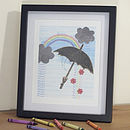 Rainbow Rain Illustration Print