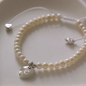 Personalised Pearl Bridesmaid Bracelet - women's jewellery