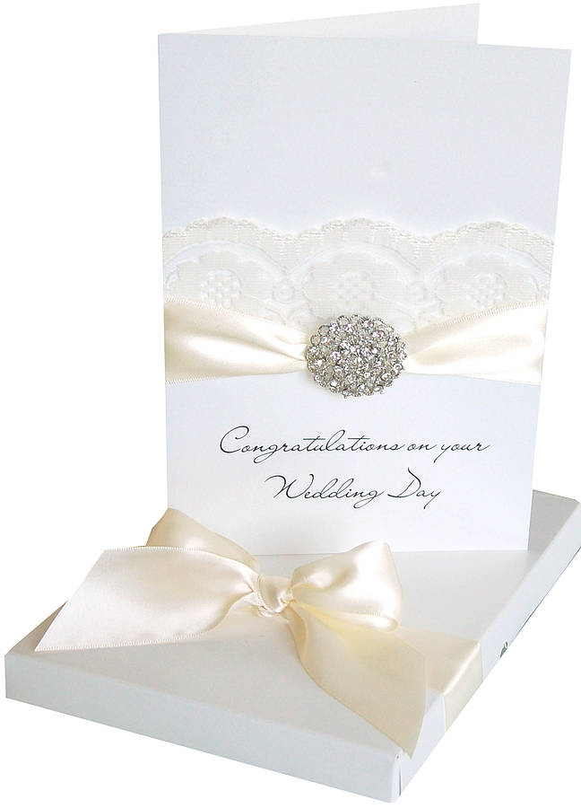 Opulence Large Personalised Wedding Card By Made With Love Designs