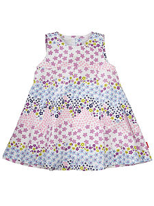 Galaia Flower Printed Cotton Dress - children's clothing