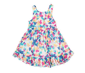 Heart Print Cotton Summer Dress - children's clothing