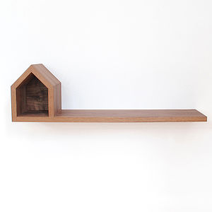 Wooden Abode Bookshelf - shelves