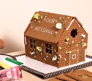 Personalised Gingerbread House Decoration Kit - christmas
