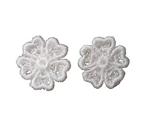 Lace Pansy Flower Earrings - earrings