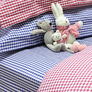 Gingham Fitted Sheet - bedding & accessories